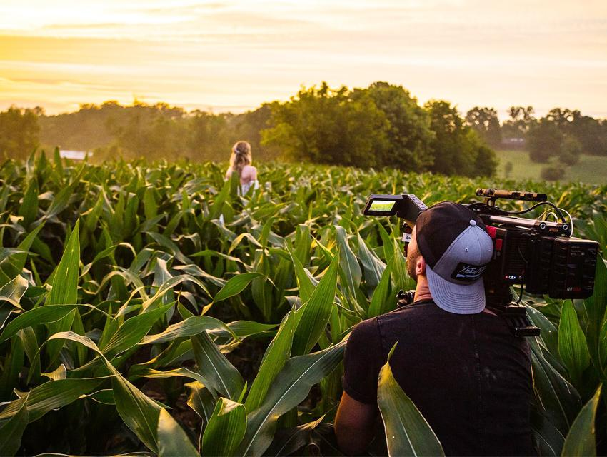 "Behind the scenes on the set for Granger Smith's new video ""Happens Like That"""